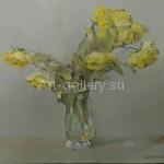 Стегэреску Т.И. Садовые розы х/м 60х70 2017год