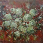 Стегэреску Ф.И. Цветы(розы)на красном х/м 60х70 2011год