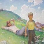 Панич Игорь Васильевич 138х166см х/м 1981год *Юность* картина в наличии