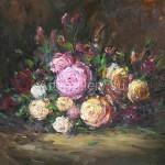 Стегэреску Тудор Ион х/м, 60х66.5 *вечерние розы* 2018г