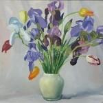 "Nekolov S.S. 40x50 k / m , 2006 . "" Irises "" $ 70"