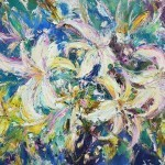 "Stegeresku TI 100x80 h / ​​m 2013 . "" Lilies "" Located in a private collection"