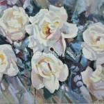"""Mustakimov G.S. 30x40 x / m 2012 . """"Roses"""" $ 45"""