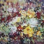Стегэреску Тудор х/м 60х70 *садовые розы* 2018год