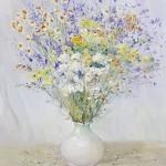 Стегэреску Фёдор х/м 56.4х65.5 *полевые цветы* 2018г