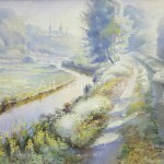 "Mustakimov G. S. 55х89 x/m, 2008 ""Road to the temple"" 235$"