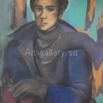 """Киверина Е.М.  """"Задумчивый юноша""""  находится в частной коллекции"""