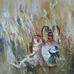 """Стегэреску Т.И. 60х70 х/м 2013 г. """"Амфорная мелодия"""" Находится в частной коллекции"""