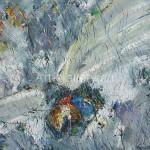 """Стегэреску Т.И. 60х70 х/м 2013 г. """"Стрекоза в траве""""  Находится в частной коллекции"""
