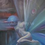"""Mustakimov G. S. 90х81 x/m, 1995 """"Sleep"""" 500$"""