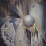 "Mustakimov G. S. 88х88 x/m, 1995 ""Birth"" of$500"