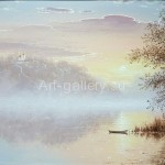 "Panich VI 38h48 x / 2016 m . "" Dawn on the Donets "" $ 85"