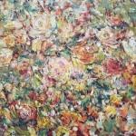 """Стегэреску Т.И. 130х100 х/м 2013г. """"Осеннии розы""""  Находится в частной коллекции"""