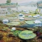 """Serdyukov A. G. 50x70 oil on canvas, 2009. """"Lilies near Kupyansk"""" 145$"""