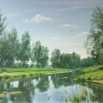 """Borisenko Pavel 73х51 oil on canvas, 2013. """"June"""" 100$"""