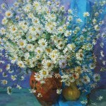 "Bugorkov Sergey Stepanovich 79х60 oil on canvas 2012. ""Daisies"" 60$"