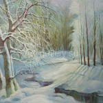 "Mustakimov George S. 35х47 oil on canvas 1995. ""Winter"" is 40$"