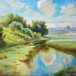 "Mustakimov George S. 53х80 H. M. 2010. ""Native land"" for$60"