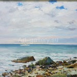 "Stegarescu T. I. 60x70 oil on canvas 2013 ""the Sea. Cloudy day"" Located in a private collection"
