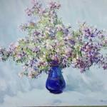 Стегэреску Тудор Ион. 70х60 х.м. 2014г «Весенние цветы» Находится в частной коллекции
