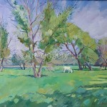 "Nikolov Sergey Vasilyevich. 60x70 oil on canvas 2009 ""In the meadow"" 120$"