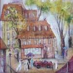 "Poberezhnyi Oleg 70x70 oil on canvas, 2009. ""Autumn is coming"" 145$"