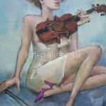 """Poberezhnyi Oleg 80х66 oil on canvas, 2010. """"Violinist"""" 145$"""