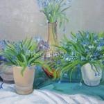 Неколов Сергей Васильевич. 55х43 холст масло 2006г «Весенние цветы» 120$