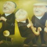 "Kuznetsov Mikhail Efimovich. 80x60 oil on canvas ""Music"" 315$"