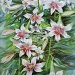 """Serdyukov Alexander Grigoryevich. 50x70 oil on canvas, 2011. """"Lilies"""" 70$"""
