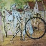 "Poberezhnyi Oleg 70x70 oil on canvas, 2010. ""Desirable"" 145$"