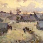"Fulidi DG canvas / oil "" Breath of Spring . Russia "" 1992 . $ 1000"