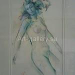 """Yakovlev A.V. paper/oil 25x16 """"In motion"""" in 2007. 50$"""""""