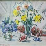 Неклюенко Н.П. 34х42,5 орг.м. 2006г. «Весенние цветы» 60$