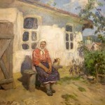 Фулиди Д.Г. холст/масло «На солнышке уходящее лето» 1990г 700$