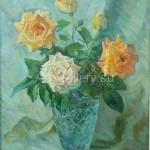 "Bugorkov Sergey Stepanovich 45х40 oil on canvas, 2010. ""Roses"" 30$"