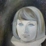 Киверина Е.М.  Автопортрет  находится в частной коллекции