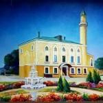 "Мустакимов Г.С. 110х80 х/м 2016г. ""Мечеть"" 170$"