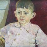"Goncharenko V. 68х49.5 K. M. 1974. ""The boy in the chair"" at$400."