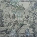 "Astashova M. 37х64 cardboard/ink/pencil ""Forest motif"" in 2014. 50$"