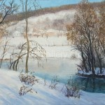 "Vorona A.I. 36h50 x / 2008 m . ""Winter in the Country"" 75 $"