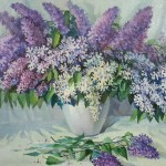 "Gede E. 50x60 s / m 2002 . "" Lilac "" $ 100"