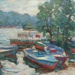 """Tartakovsky I. 70x50 org/m 1961 """"On the Dnieper"""" 1800$"""