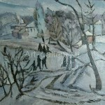 "Kravchenko A. I. 60x40 x/m 1921, ""Winter on the outskirts of town"" 3600$"