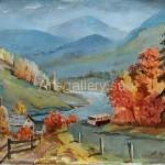 "Horov A. 85х65 x/m ""Autumn in the Carpathians"" 600$"
