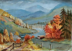 "Horov A. 85х65 x/m ""Autumn in the Carpathians"" 600$"
