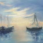 "Farafonova VV 60x50 x / 2016 m . "" Boats "" 150 $"