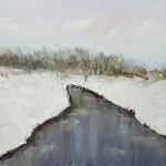 """Farafonova VV 60x40 x / 2016 m . """"Winter Landscape"""" 110 $"""